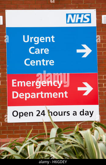 Emergency medical centre stock photos emergency medical centre sign for an nhs hospital emergency department and urgent care centre stock image sciox Images