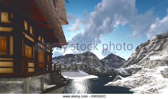 Buddhist single men in rocky ridge