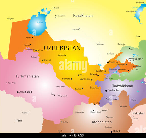 World map vector editable stock photos world map vector editable vector color map of uzbekistan stock image gumiabroncs Image collections