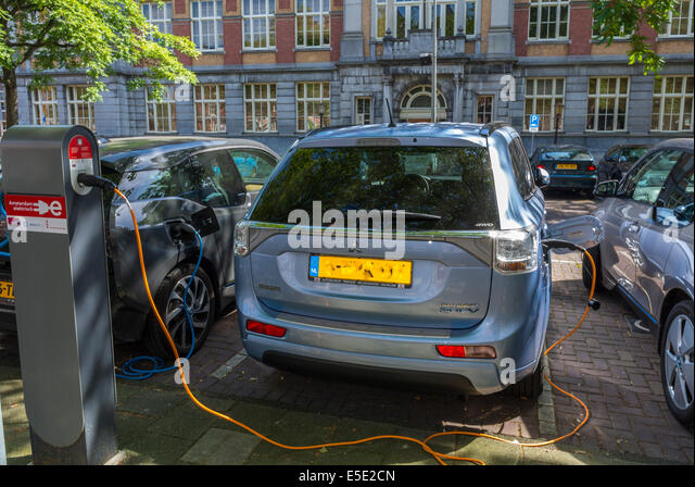 Parked Electric Car Stock Photos Parked Electric Car Stock