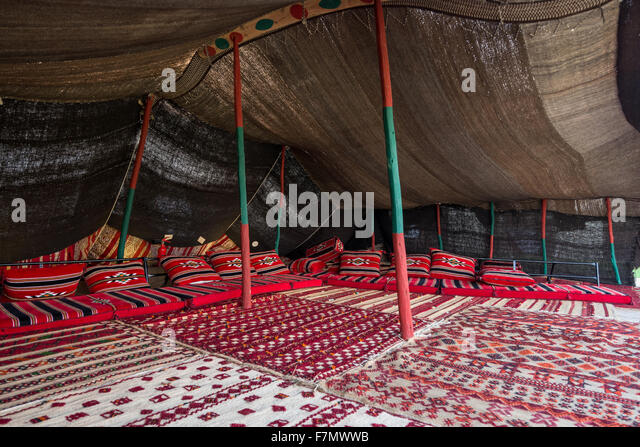 Bedouin tent interior - Stock Image & Inside Bedouin Tent Stock Photos u0026 Inside Bedouin Tent Stock ...