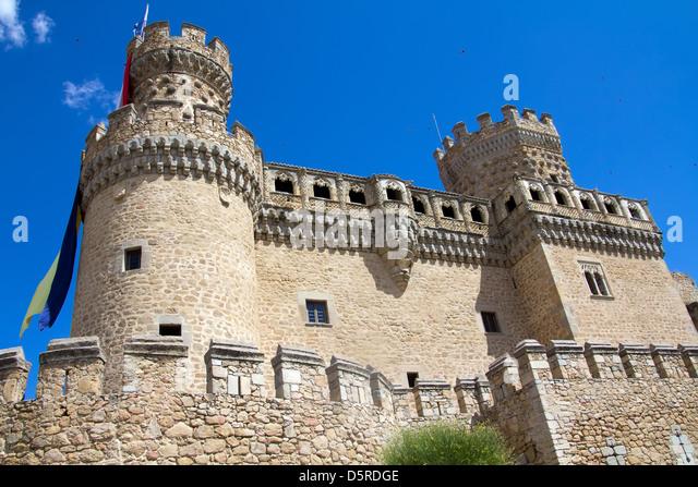 Manzanares El Real And Castle Stock Photos & Manzanares El ...