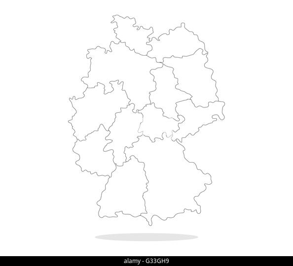 States Map Germany Photos and States Map Germany Images – Black and White Map of Germany