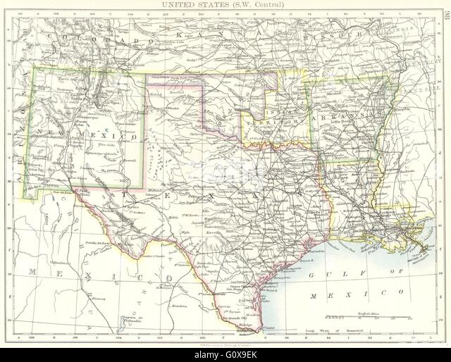 Physical Map New Mexico Stock Photos Physical Map New Mexico Stock