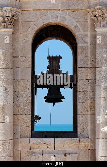 Church Bell, Cadiz Cathedral (Catedral de Santa Cruz de Cádiz), Plaza Catedral, Cadiz, Spain - Stock Image