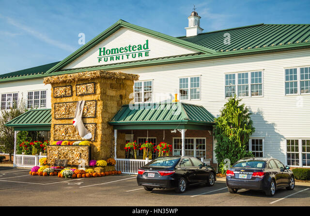 The Homestead Furniture Store In Mt. Hope, Ohio, USA.   Stock Image