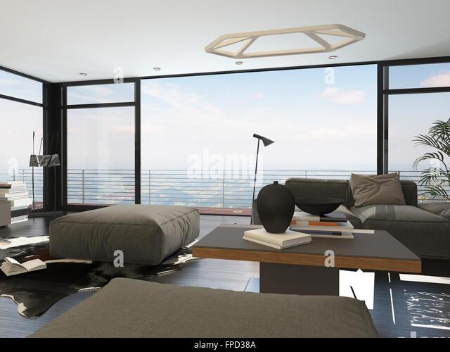 High Rise Apartment Inside interior modern high rise apartment stock photos & interior modern