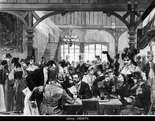 Illustrirte zeitung stock photos illustrirte zeitung for Eiffel restaurant berlin