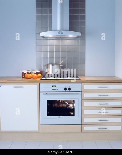 White Kitchen Extractor Fan oven extractor fan stock photos & oven extractor fan stock images