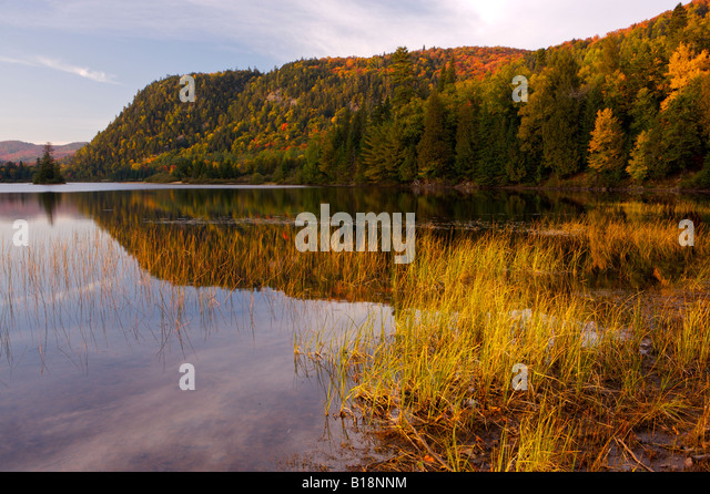 Parc national du mont tremblant stock photos parc for Lac miroir mont tremblant