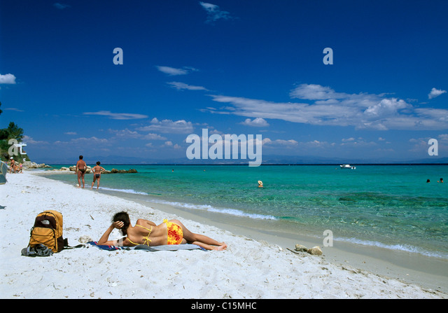 Sunbathing Beach Greece Stock Photos & Sunbathing Beach ...