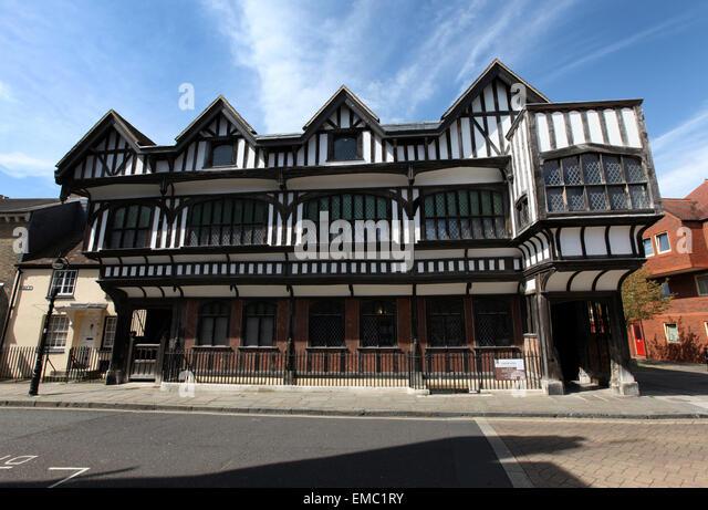 Southampton tudor house museum in bugle street southampton stock image