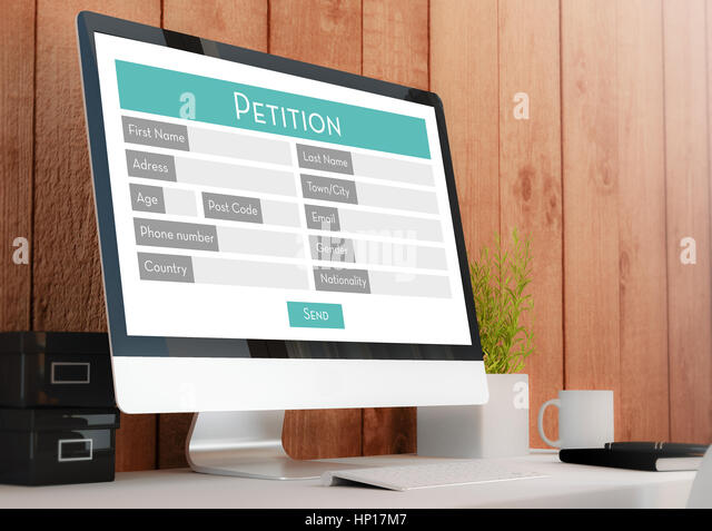 how to set up an online petition