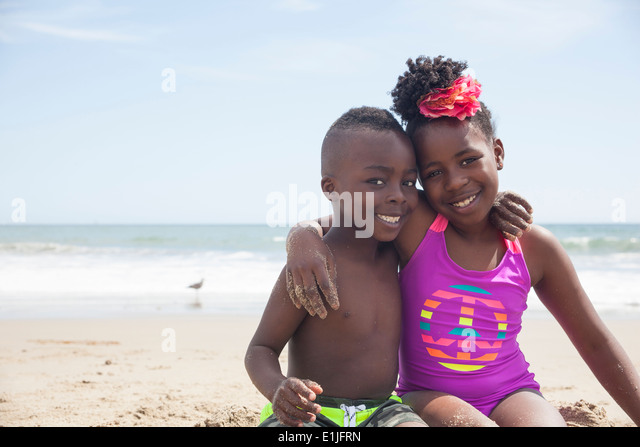 African American Family Beach Stock Photos Amp African