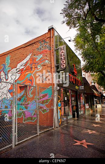 Hollywood boulevard graffiti stock photos hollywood for My tattoo shop hollywood
