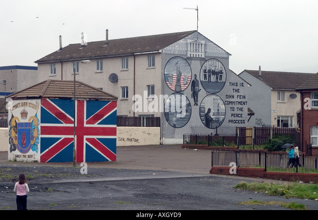 Ulster freedom fighters mural in stock photos ulster for Mural northern ireland