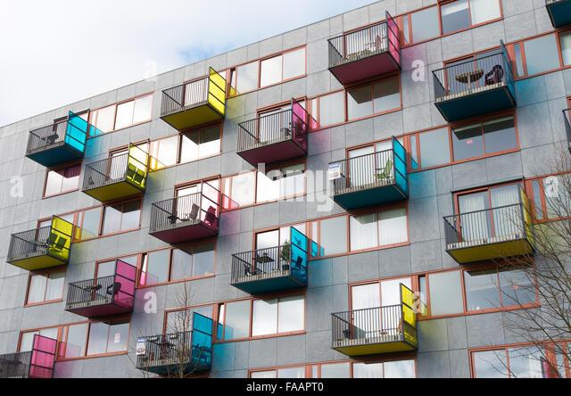 Modern Apartment House Balconies Stock Photos Modern Apartment