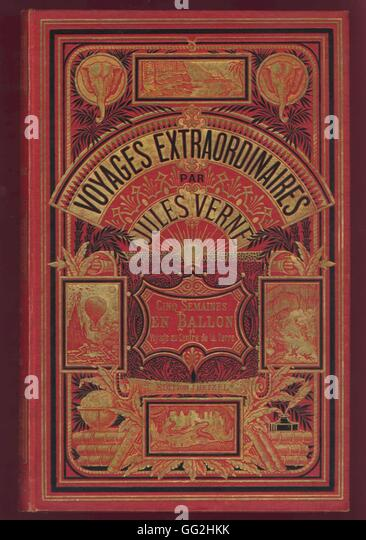Voyages Extraordinaires: Jules Verne Book Cover Stock Photos & Jules Verne Book