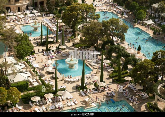 Swimming Pools Bellagio Hotel Las Stock Photos Swimming Pools Bellagio Hotel Las Stock Images