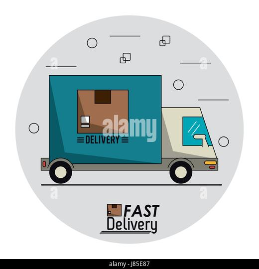 Delivery Truck Cut Out Stock Images & Pictures - Alamy