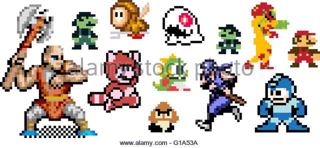 8 Bit Cartoon Characters : Bit stock photos images alamy