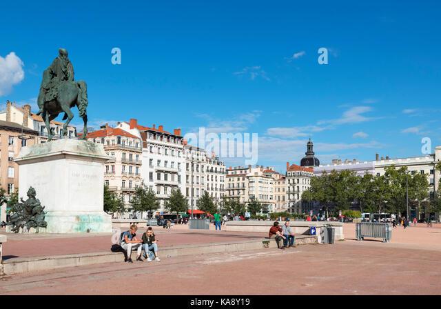 Lyon france city centre stock photos lyon france city centre stock imag - Monoprix lyon bellecour ...