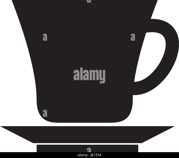 black cup graphic design - Stock Image