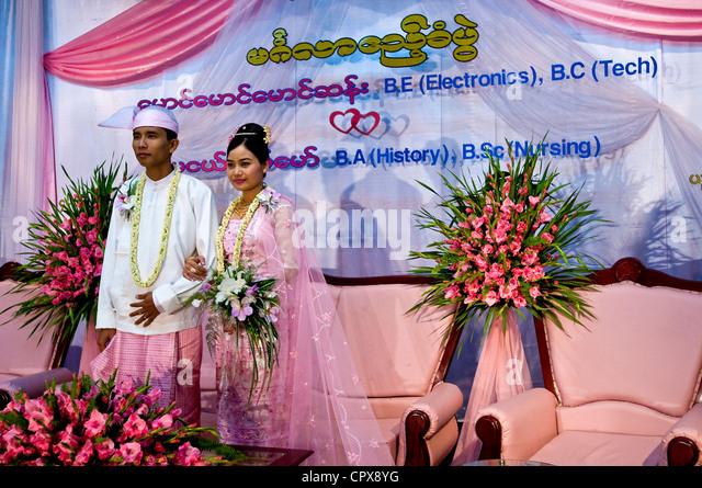 Myanmar Burma Yangon Division Yuzana Garden Hotel Groom Bride Mg San Ma Hge