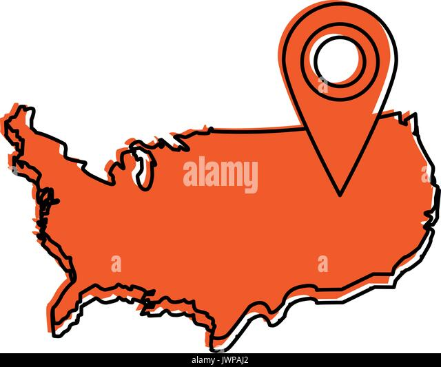 Usa Map Stock Vector Images Alamy - Usa map outline clipart