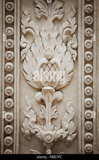 Buddhism carving lotus stock photos