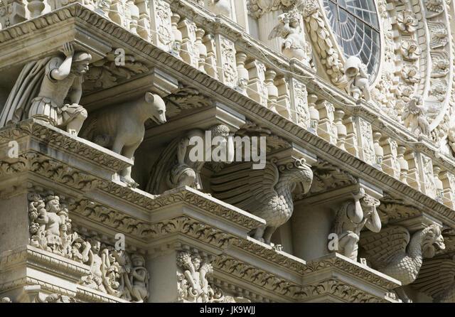 lecce italien apulien kirche santa croce barockfassade detail sa 1 4 dostitalien wetter