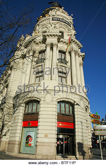 Santander bank madrid stock photos santander bank madrid for Banco santander abierto sabado madrid