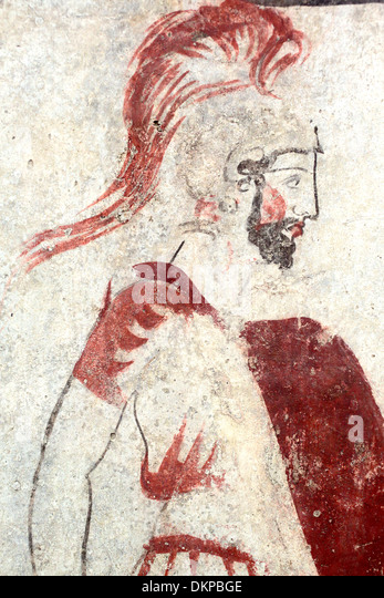 Greek warrior stock photos greek warrior stock images for Ancient greek mural