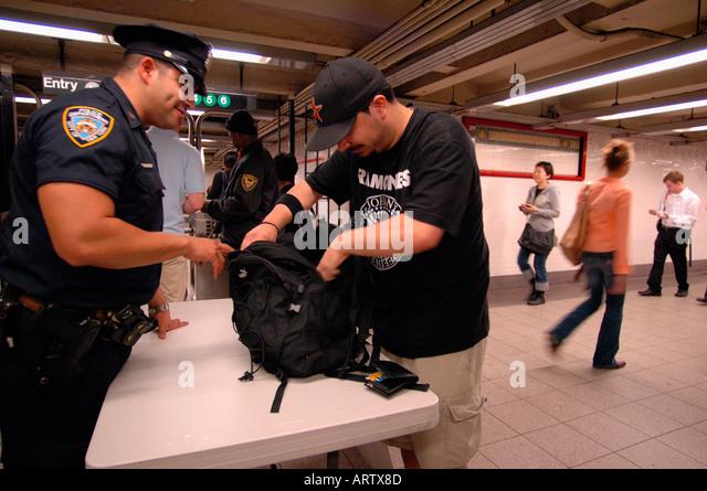 Police Check Bag Stock Photos Amp Police Check Bag Stock