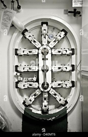 Inside A Cruise Ship Engine Room: Watertight Door Stock Photos & Watertight Door Stock