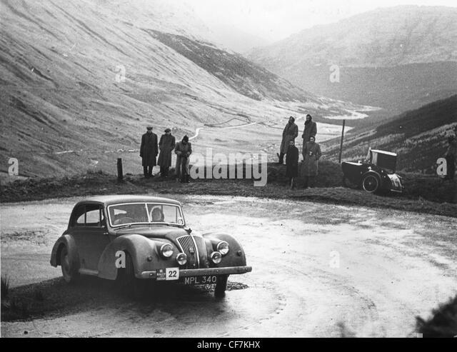 Ac 2 Litre 2 Door Saloon 1949 On 1952 Rac Rally Stock Image