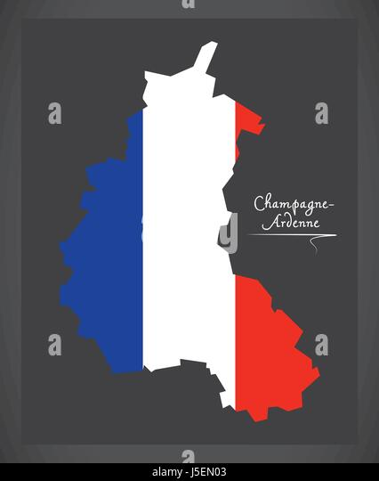 Champagne Ardenne Map Stock Photos Champagne Ardenne Map Stock