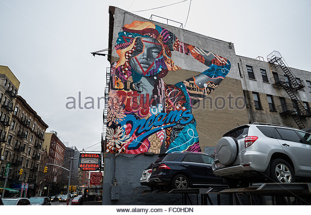 Broome st stock photos broome st stock images alamy for Mural on broome street