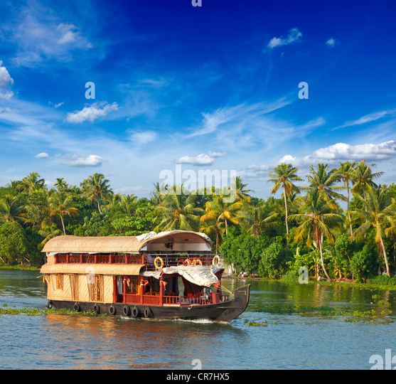 Houseboat Kerala Stock Photos & Houseboat Kerala Stock