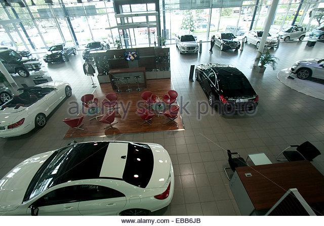 Mercedes benz showroom stock photos mercedes benz for Mercedes benz lebanon