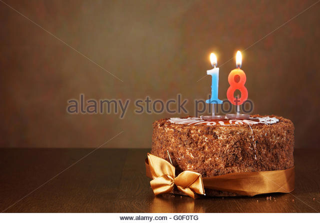 Birthday Cake Burning Candle Number Stock Photos ...