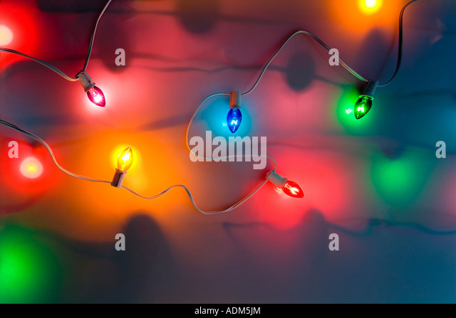 Christmas Tree Lights Glow Stock Photos