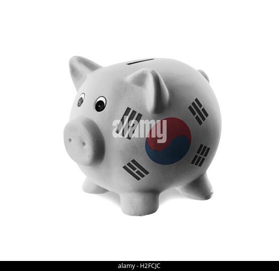 South korean national flag stock photos south korean for How to paint a ceramic piggy bank