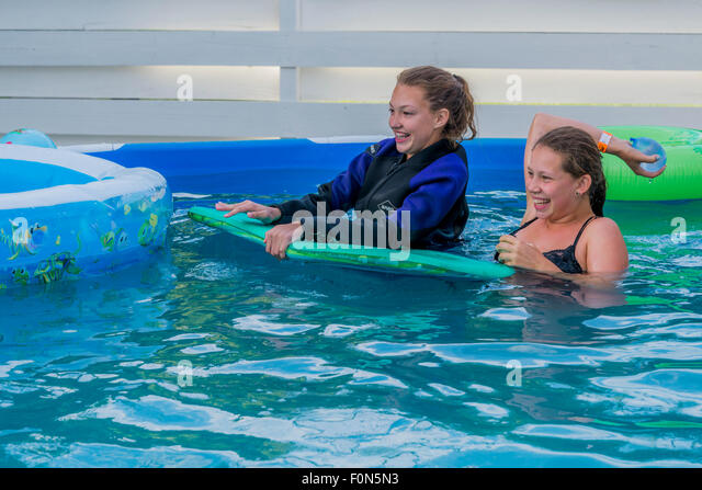 Above Ground Swimming Pool Stock Photos & Above Ground ...
