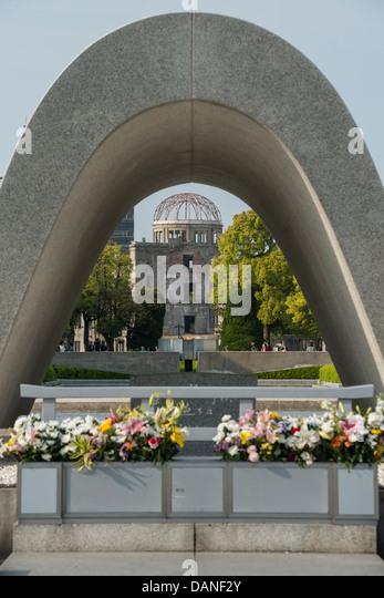 Cenotaph Hiroshima Memorial Stock Photos & Cenotaph Hiroshima Memorial St...