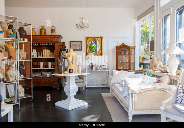 High Quality USA New Jersey NJ N.J. Cape May Home Furnishings Store Called White   Stock  Image