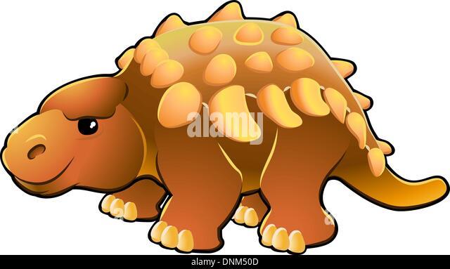 A Vector Illustration Of Cute Friendly Dinosaur