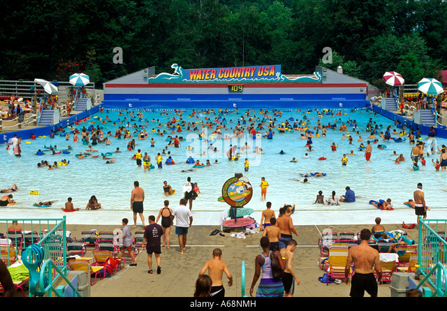 Water Country Wave Pool At Busch Gardens Williamsburg Virginia Stock Image