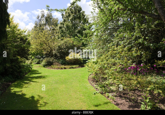 One Of The Many Vistas At Hadlow College Show Gardens Broadview Kent UK    Stock Image