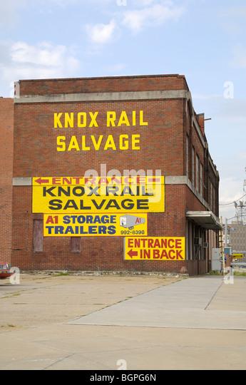 Knox Rail Salvage In City Stock Photos & Knox Rail Salvage In City ...